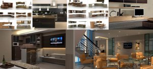 Desain interior, desain furniture, arsitektur dan gambar 3d
